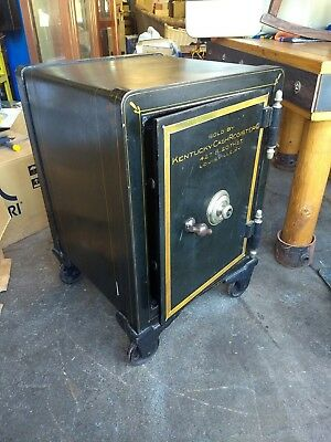 SMALL ANTIQUE YALE COMBINATION SAFE w/ LOUISVILLE KENTUCKY MARKING