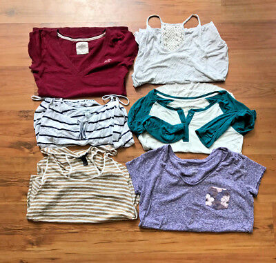 Womens Juniors Huge Clothing Lot of 6 Size Small S Tops American Eagle Hollister