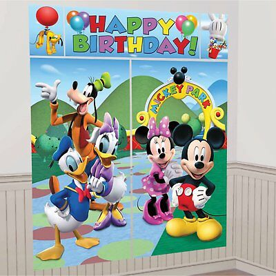 DISNEY MICKEY MOUSE CLUBHOUSE BIRTHDAY PARTY Wall Scene Setter Banner Decoration