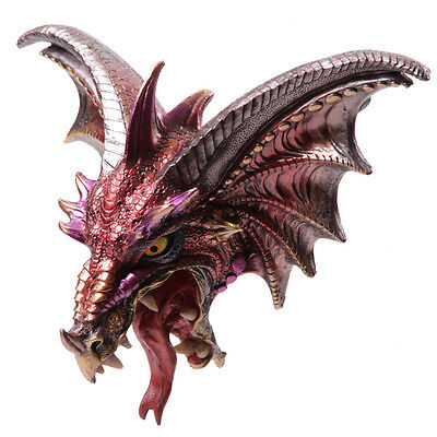 Figures Dragon Plaque For The Wall Plate Head Fantasy Statue 1