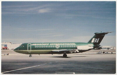 Braniff International BAC 111 Vintage Postcard