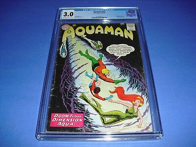 Aquaman #11 CGC 3.0 OW/W PAGES 1963! 1st app Mera DC Comics not CBCS