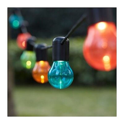 Ikea Solvinden 12 LED Colored Lightchain Outdoor. New! Back To College!!