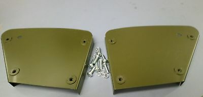 Ford Gpw Willys Mb Hip Pad Metal Plates Complete With Fixing Screws (Pair)