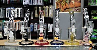 "Collectible Tobacco Glass Water Pipe Banger Bong Hooka 8"" w/ 14mm banger +Bowl"