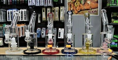 "Collectible Tobacco Glass Water Pipe Banger Bong Hookah 8"" with Bowl Free Ship"