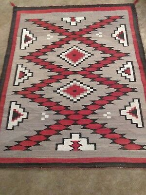 Large 1930's Authentic Navajo hand woven Rug