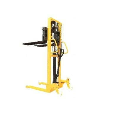 New Manual Stacker Straddle Leg Pallet Truck Heavy Duty Lifter High Lift 2.5 m