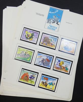 EDW1949SELL : SIERRA LEONE Beautiful collection of MNH Disney sets, S/S & Shtlts