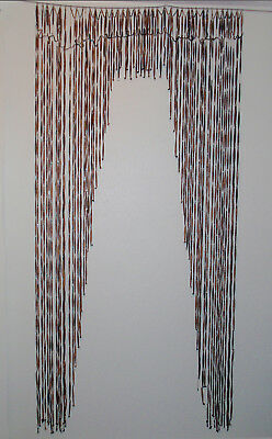 Antique Victorian Arts and Crafts Paper Bead Portiere Door Curtain  ca 1900