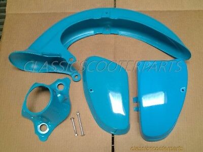 Honda C70 Passport 82-84 plastic combo BLUE side covers light fender READ! H2384
