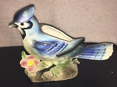 Large Vintage BLUE JAY PLANTER #4667 Made in Japan