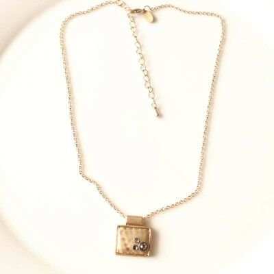 New Lia Sophia Abalone Pendant Necklace Gift Vintage Women Party Holiday Jewelry