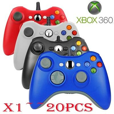 (QTY 1-20) USB Wired Game Remote Controller for Microsoft Xbox 360 PC Windows SA