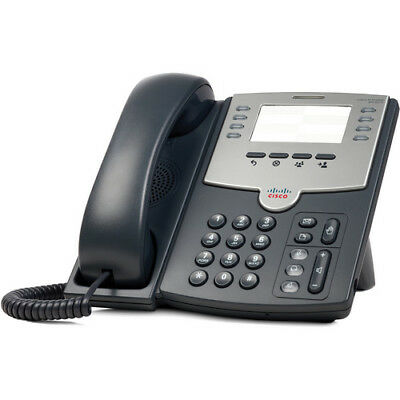Cisco SPA501G 8-Line IP Phone with 2-Port Switch, PoE and Paper Label