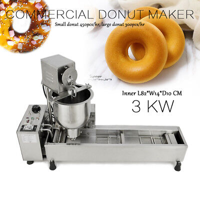 Commercial Automatic Donut Making Machine,Wide Oil Tank,3 Sets Free Mold IN U.S