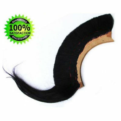 BLACK_PLUME BLACK CREST BRUSH Natural Horse Hair For CORINTHIAN HELMET ARMOUR