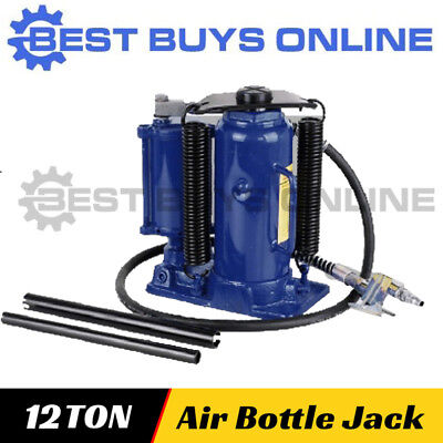 Hydraulic Bottle Jack 12 Ton Air & Manual Operated for Car, House, Floor Lifting
