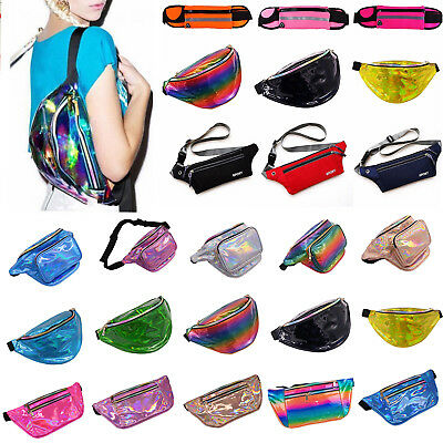 Bum Bag Fanny Shiny Pack  Money Wallet Travel Holiday Waist Belt Portable Pouch