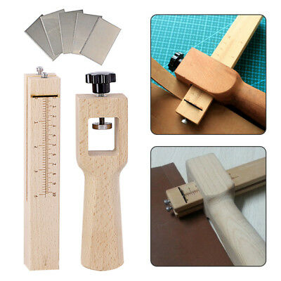 Wood Strip and Strap Cutter Leather Belt Cutter Hand Cutting Tool With 5 Blade