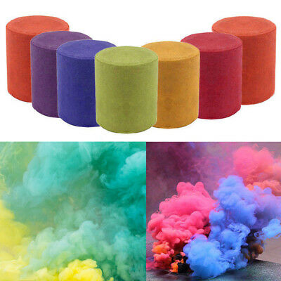 Smoke Cake Colorful Smoke Effect Show Round Bomb Stage Photography MV Aid Toys
