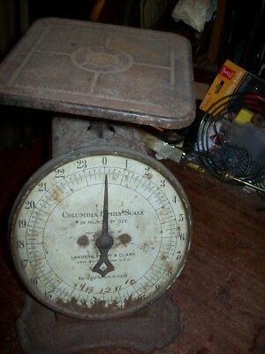 Old Columbia 24 LB Family Scale Rustic Patia