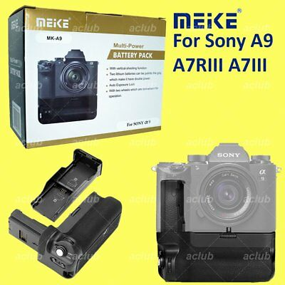 Meike MK-A9 Vertical Battery Grip Pack for Sony A9 A7R A7 III A7RM3 A7R3 A7M3