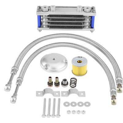 Aluminum 65ml Moto Oil Cooler Engine Cooling w/Filter Kit for Suzuki 200CC DY