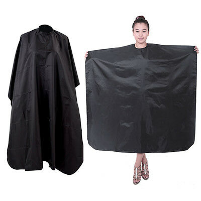 Black Salon Barbers Cape Gown Hairdressing Hair Cutting Dressing Gown
