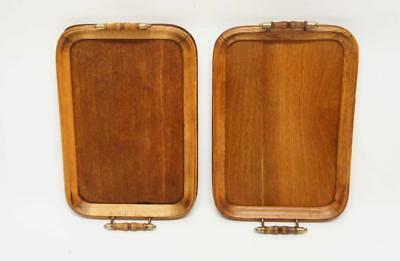 Pair of small  Edwardian Oak butlers or drinks tray 49cm x 29cm