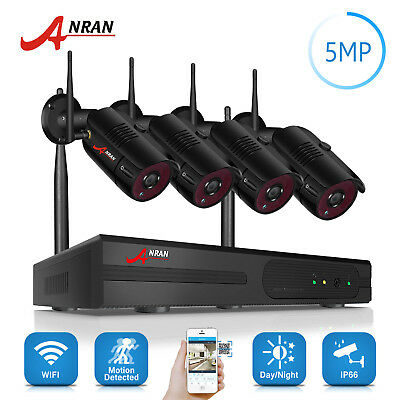 ANRAN 4CH 5MP Security Camera System Wireless Video Outdoor CCTV H.265 1920P NVR
