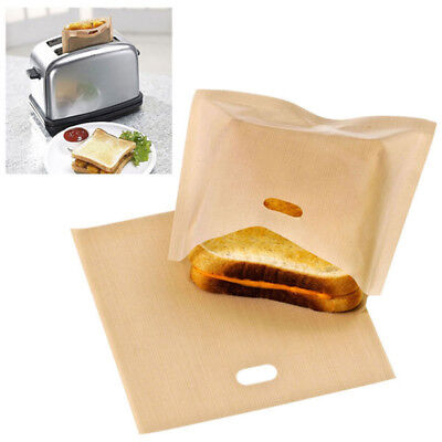 Easy Reusable Non-stick Toaster Bags for Grilled Cheese Sandwiches Made  SEAU
