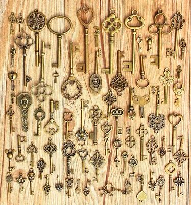 Lot Of Vintage Keys Skeleton Ussr Lock Door Antique Old Gates Key Usa
