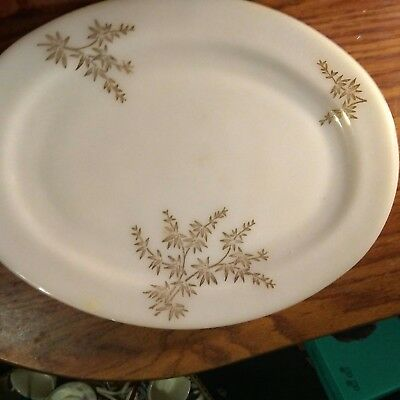 milk glass federal golden glory dishes bowls and serving platter