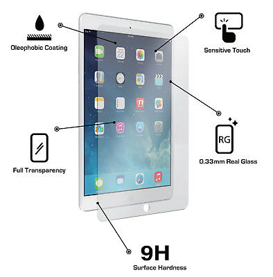Premium Tempered Glass Screen Protector for Apple iPad Available in All Models