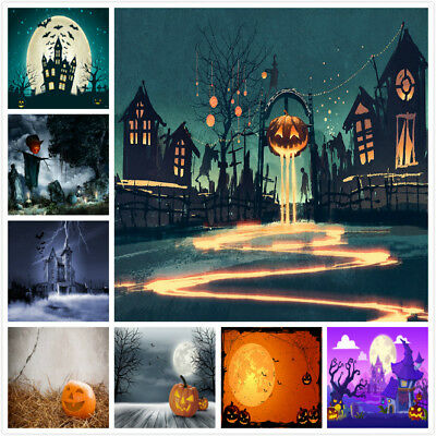Halloween Photo Backdrop Vinyl Background for Photography Party Decorations 2018