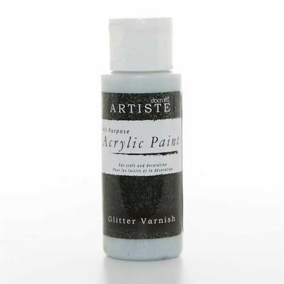 DoCrafts Artiste Glitter Varnish Acrylic Craft Paint - 59ml / 2oz Bottle