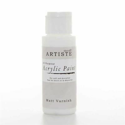 DoCrafts Artiste Matt Varnish Acrylic Craft Paint - 59ml / 2oz Bottle