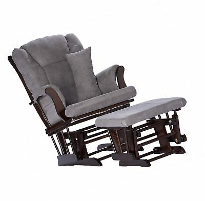 Superb Baby Nursery Leather Rocker Rocking Chair Glider Ottoman Gmtry Best Dining Table And Chair Ideas Images Gmtryco