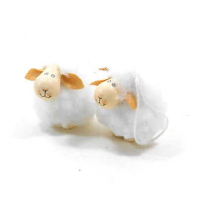 Mini Sheep Ornaments set of 2 for Table Top Tree by Silver Tree