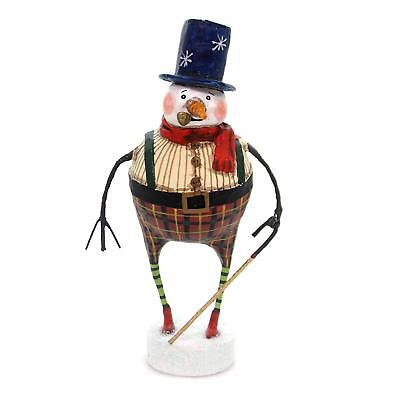 GOOD TIDINGS SNOWMAN Whimsical Christmas Figurine, Lori Mitchell, by ESC