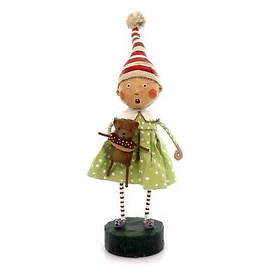 DISCOVERING SANTA Whimsical Christmas Figurine, Lori Mitchell, by ESC