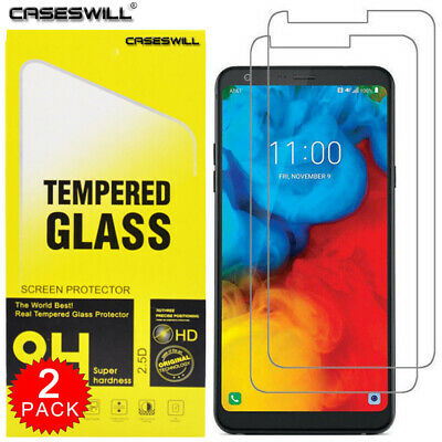 For LG Stylo 4 / LG Q Stylus - Clear HD Tempered Glass Screen Protector (2-Pack)