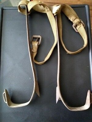 Pole climbing straps. Antique, Vintage, rusted or just old. Great gift idea