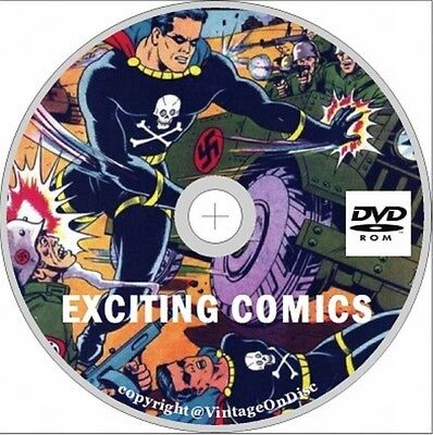 Exciting Comics Issues 1 - 69 on Dvd