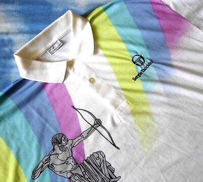POLO T-SHIRT vintage 80's SERGIO TACCHINI TG.8 - XL /2XL made in Italy NEW