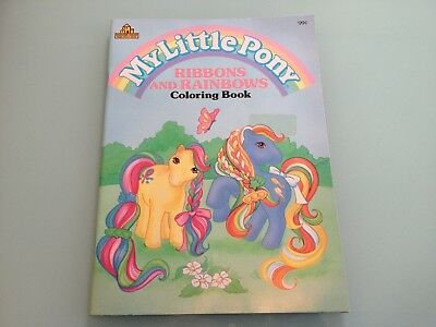 1988 Vintage My Little Pony Ribbons And Rainbows Coloring Book Lightly Used Rare