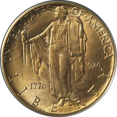 1926 Sesqui Commemorative Gold $2.50 PCGS Fantastic Luster Nice Strike