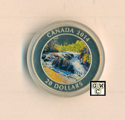 2014 'River Rapids' Colorized Proof $20 Silver Coin 1oz.9999 Fine(NT)(13902)OOAK