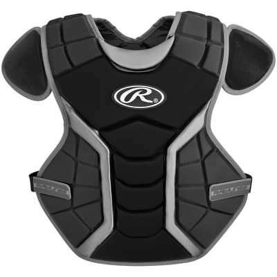 New Rawlings Renegade Baseball Catchers Chest Protector Pad Adult Black/Silver
